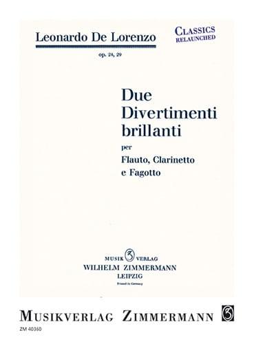 Due Divertimenti brillanti - Leonardo de Lorenzo - laflutedepan.com