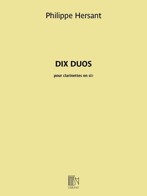 10 Duos - 2 Clarinettes - Philippe Hersant - laflutedepan.com