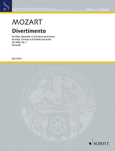 MOZART - Divertimento No. 1, KV 439b - Partition - di-arezzo.com