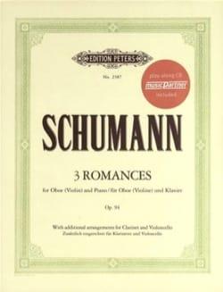 SCHUMANN - 3 Romances, op. 94 - Hautbois Violon et Piano - Partition - di-arezzo.fr