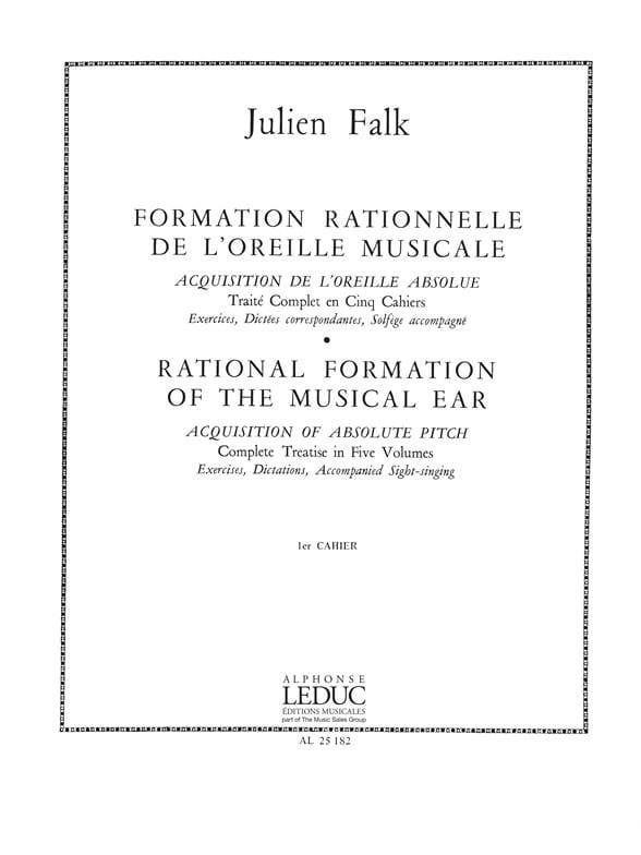 Julien Falk - Rationelle Bildung des Ohres Band 1 - Partition - di-arezzo.de