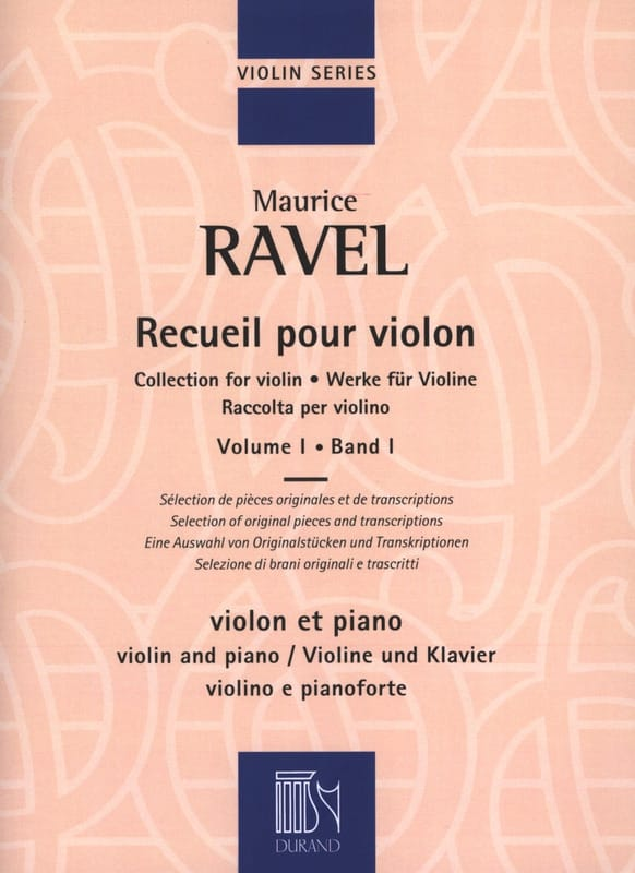Maurice Ravel - Collection for violin - Volume 1 - Partition - di-arezzo.co.uk