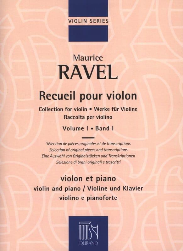 Maurice Ravel - Colección para violín - Volumen 1 - Partition - di-arezzo.es