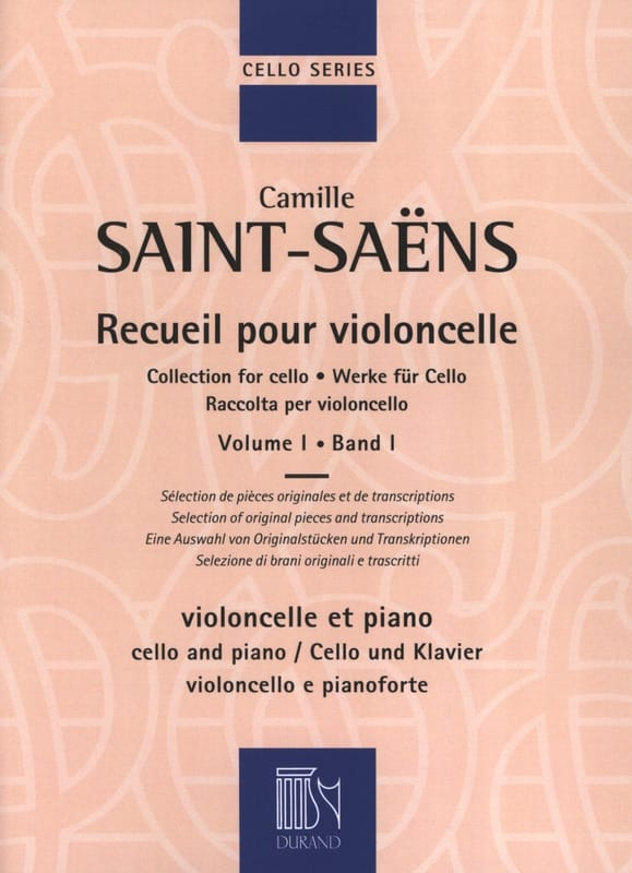 Camille Saint-Saëns - Cello Collection - Volume 1 - Partition - di-arezzo.co.uk