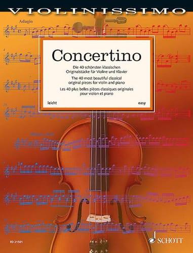 Concertino - Partition - Violon - laflutedepan.com