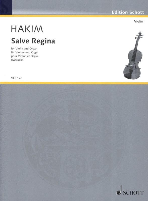 Salve Regina - Naji Hakim - Partition - Violon - laflutedepan.com