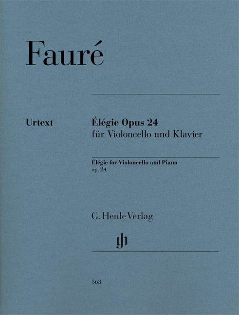 Gabriel Fauré - Elegy - Partition - di-arezzo.co.uk
