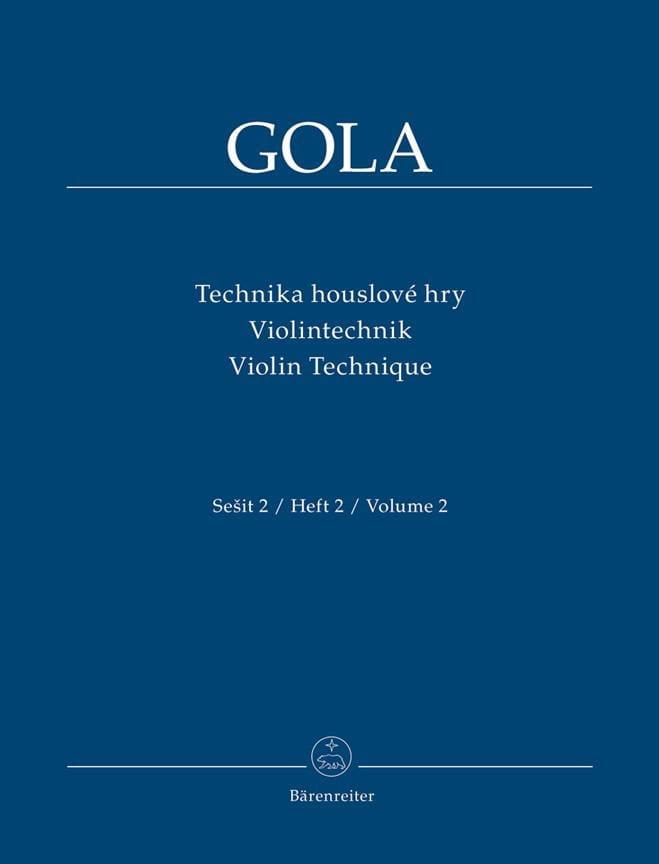 Violin Technique, Volume 2 - Zdenek Gola - laflutedepan.com