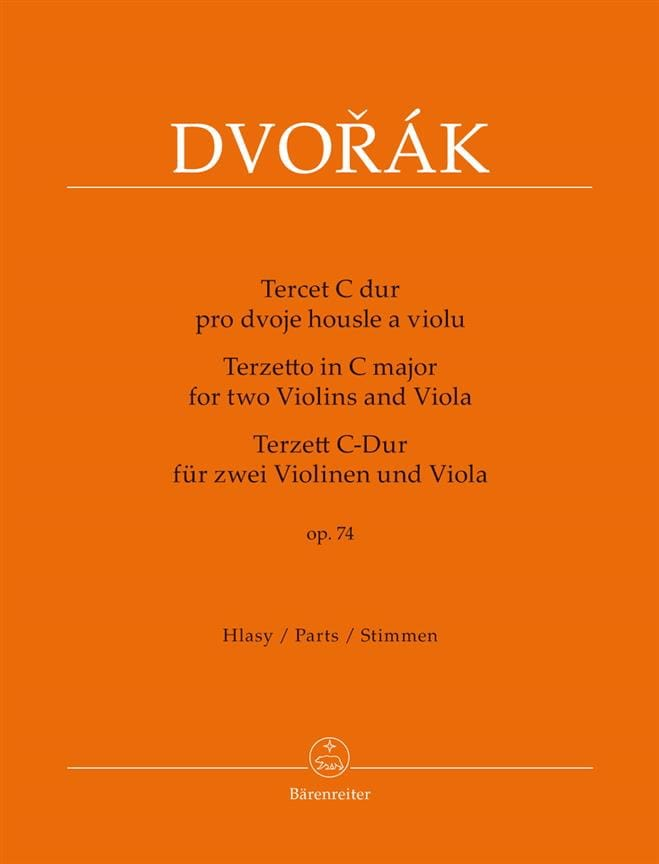 DVORAK - Terzetto for 2 violins and viola in C major, op. 74 - Partition - di-arezzo.com