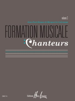 Marguerite LABROUSSE et Jean-Paul DESPAX - Musical Training Singers - Volume 3 - Partition - di-arezzo.com