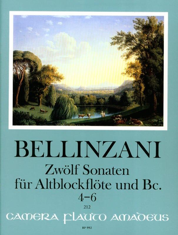12 sonates pour flûte à bec alto et basse continue op. 3, vol 2 : 4-6 - laflutedepan.com