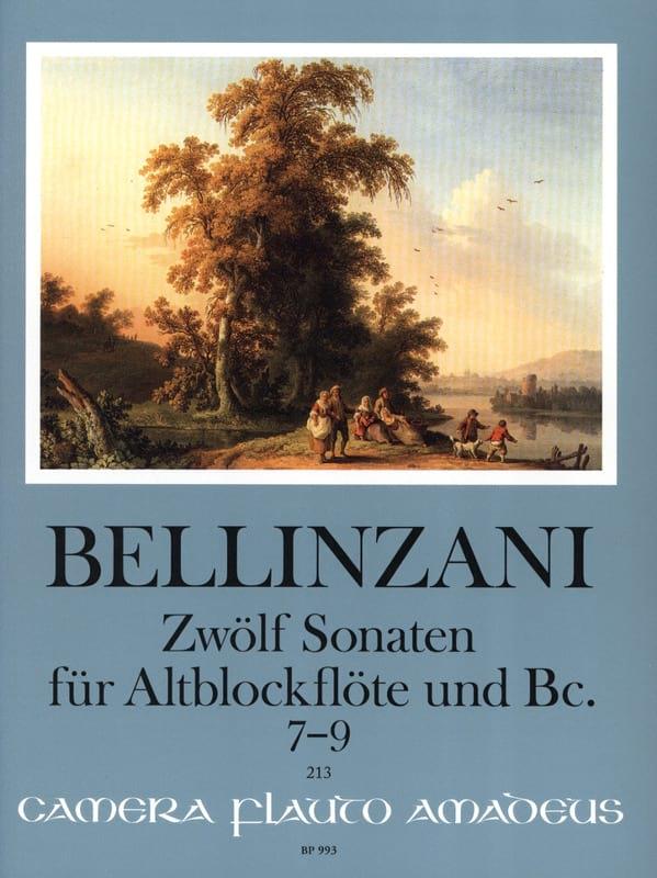 12 Sonates pour flûte à bec alto et BC op. 3, vol 3 : 7-9 - laflutedepan.com
