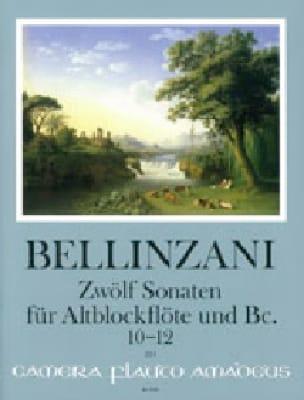 12 Sonates pour flûte à bec alto et BC op. 3, vol 4 : 10-12 - laflutedepan.com