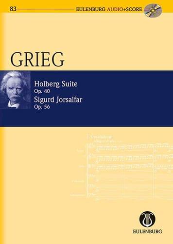 Edvard Grieg - Holberg Suite, op. 40 / Sigurd Jorsalfar, op. 56 - Partition - di-arezzo.it