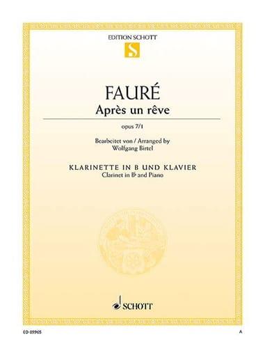 Gabriel Fauré - After a dream - Partition - di-arezzo.com