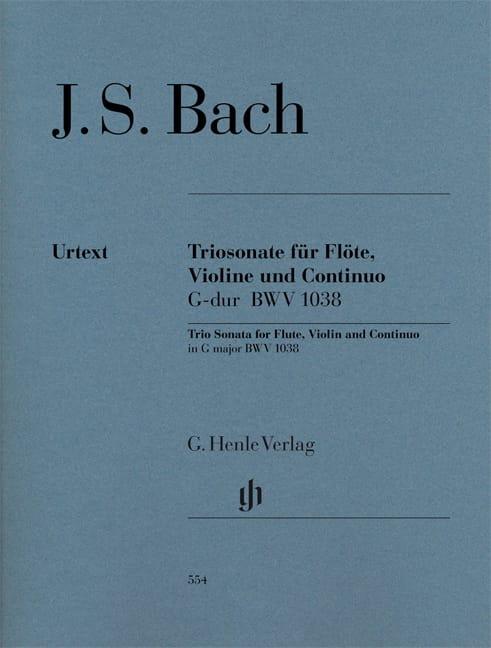 BACH - Trio Sonata in G major BWV 1038 for flute, violin and basso continuo - Partition - di-arezzo.com