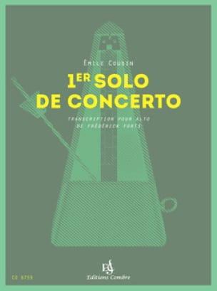 1er Solo de concerto - Emile Cousin - Partition - laflutedepan.com