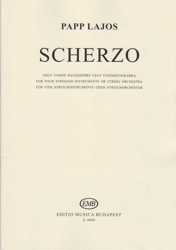 Scherzo - score & parts - Lajos Papp - Partition - laflutedepan.com