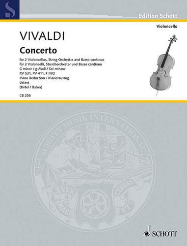 VIVALDI - Concerto in G minor, RV 531 - Partition - di-arezzo.com