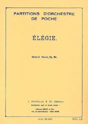 Gabriel Fauré - Elegy, op. 24 - Driver - Partition - di-arezzo.co.uk