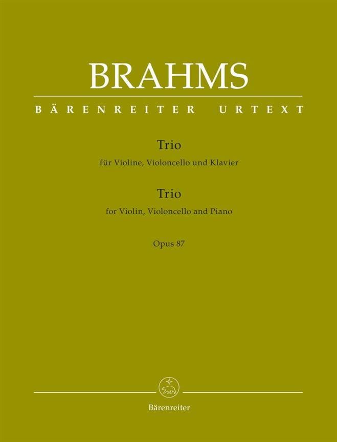 BRAHMS - Trio for violin, cello and piano op. 87 - Partition - di-arezzo.co.uk