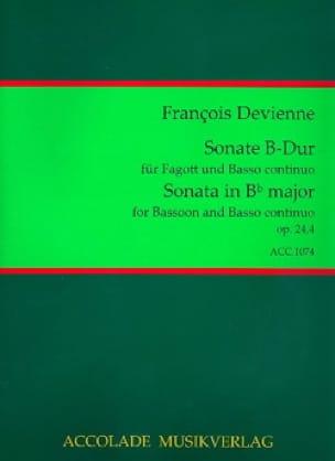 Francois Devienne - Sonata op. 24 n ° 4 - Bassoon / Piano - Partition - di-arezzo.com
