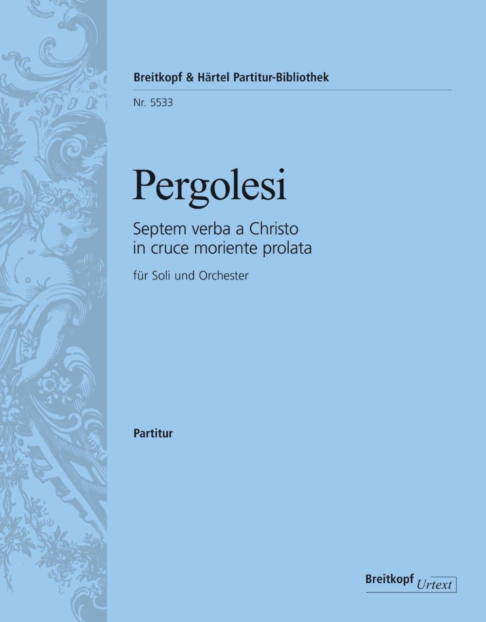 Giovanni Battista Pergolesi - Septem Verba to Christo in cruce moriente prolata - Partition - di-arezzo.co.uk