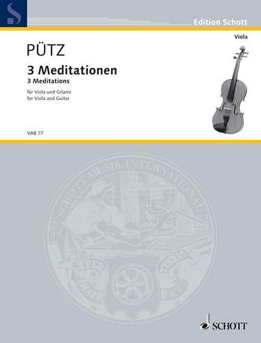 3 Méditations - Eduard Pütz - Partition - 0 - laflutedepan.com