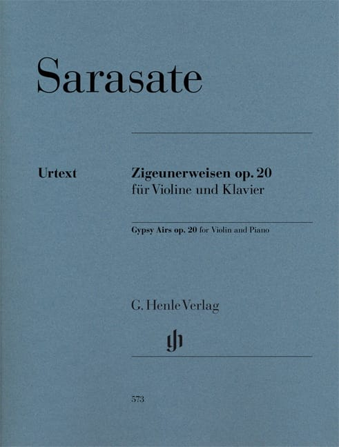 Pablo de Sarasate - Bohemian Airs op. 20 for violin and piano - Partition - di-arezzo.co.uk
