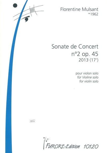 Sonate de Concert no. 2 op. 45 - Florentine Mulsant - laflutedepan.com
