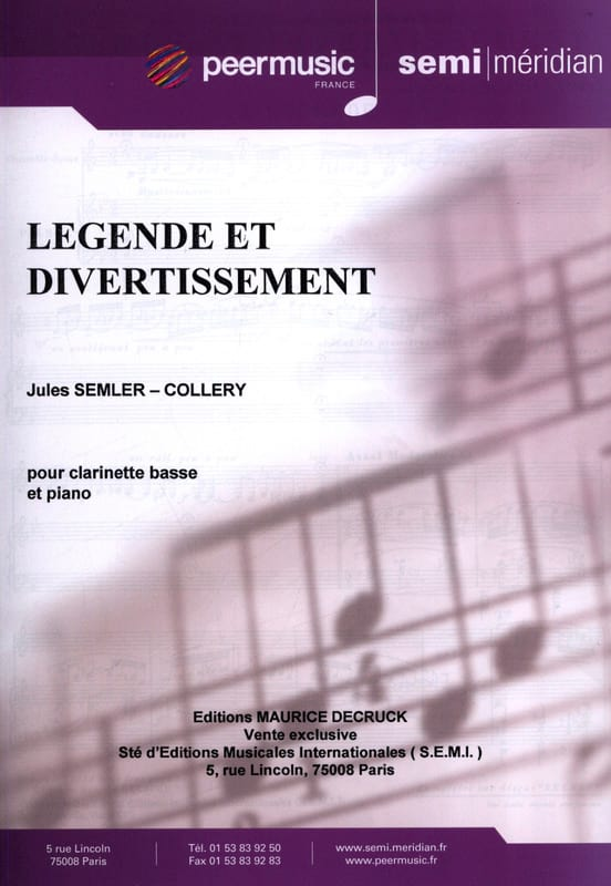 Jules Semler-Collery - Legend and Entertainment - Partition - di-arezzo.co.uk