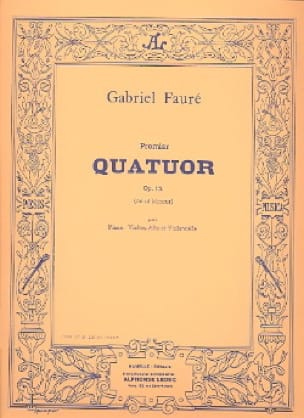 Gabriel Fauré - Quartet n ° 1 op. 15 C minor - Parts - Partition - di-arezzo.com