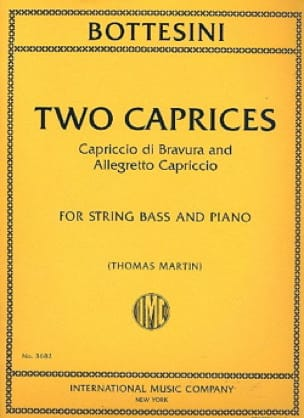 Two Caprices - Giovanni Bottesini - Partition - laflutedepan.com