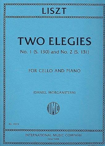 Franz Liszt - Two Elegies - Partition - di-arezzo.co.uk
