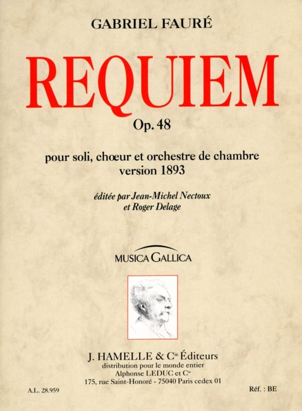 Gabriel Fauré - Requiem op. 48 - Version 1893 - Driver - Partition - di-arezzo.co.uk