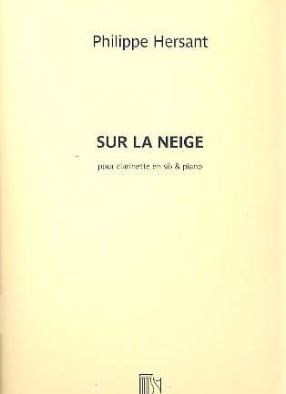 Sur la neige - Philippe Hersant - Partition - laflutedepan.com