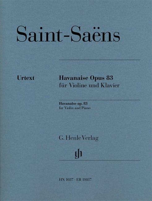 Havanaise, opus 83 - SAINT-SAËNS - Partition - laflutedepan.com