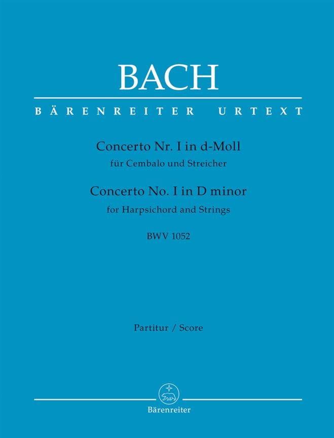 Concerto n° 1, BWV 1052 - BACH - Partition - laflutedepan.com