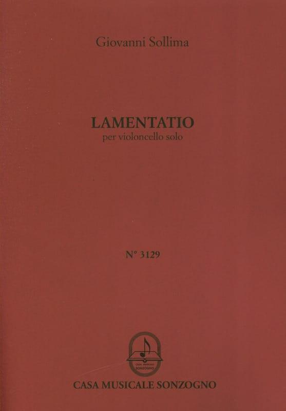 Lamentatio - Giovanni Sollima - Partition - laflutedepan.com