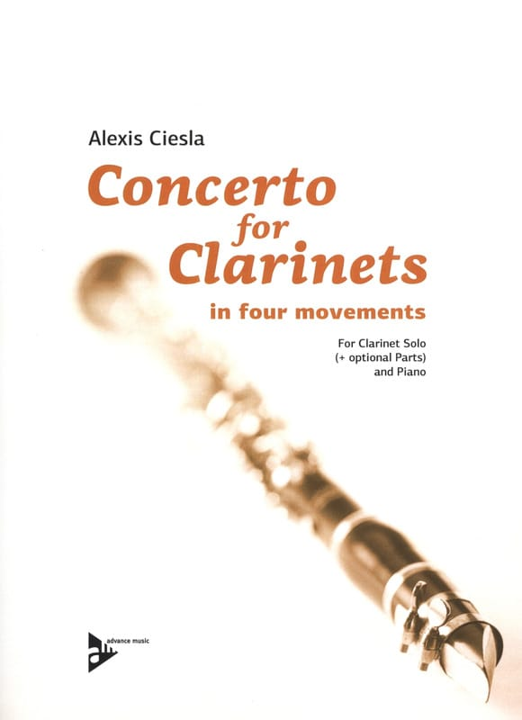 Alexis Ciesla - Concerto for Clarinets - Partition - di-arezzo.com