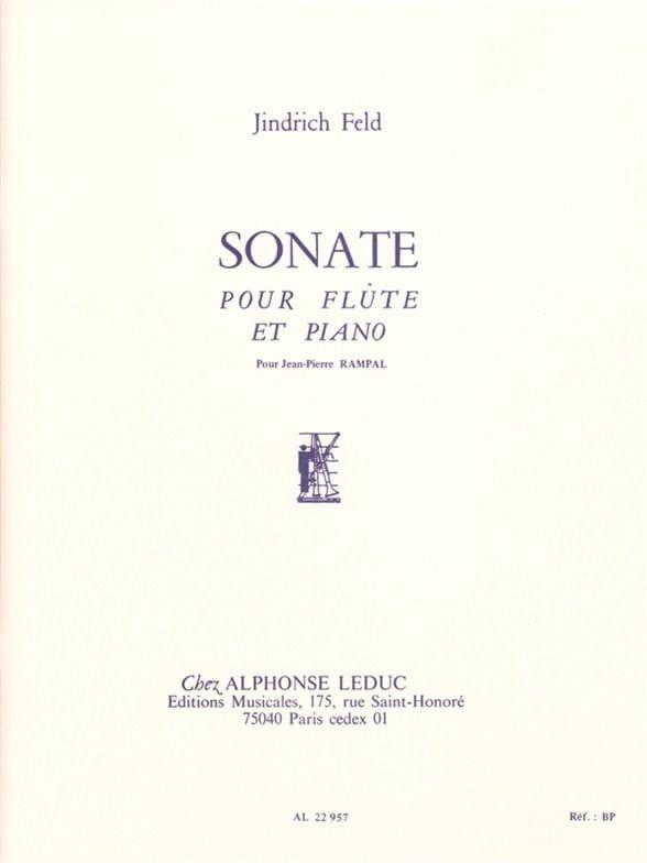 Jindrich Feld - Sonate - Piano flute - Partition - di-arezzo.com