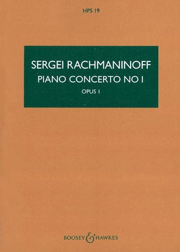 Concerto pour Piano et Orchestre n° 1 - RACHMANINOV - laflutedepan.com