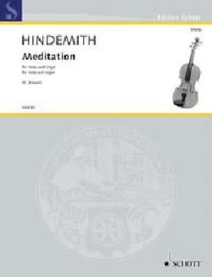 Paul Hindemith - Meditación - Alto y Órgano - Partition - di-arezzo.es