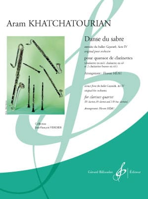 Aram Khatchaturian - Sword Dance - 4 Clarinets - Partition - di-arezzo.co.uk