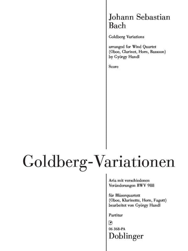 Variations Goldberg - Quatuor à Vents - BACH - laflutedepan.com