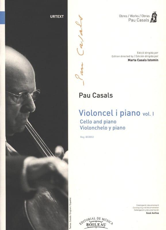 Violoncel y piano - Volume 1 - Pablo Casals - laflutedepan.com