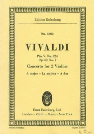Konzert A-Dur - VIVALDI - Partition - Petit format - laflutedepan.com