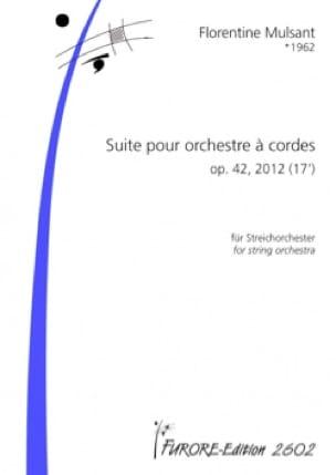 Suite pour orchestre à cordes Op. 42 conducteur - laflutedepan.com