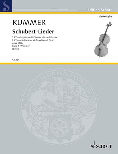 Friedrich August Kummer - Schubert Lieder, op. 117b - Volume 1 - Partition - di-arezzo.co.uk