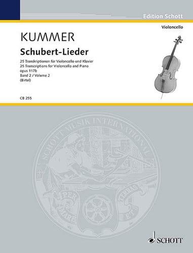 Friedrich August Kummer - Schubert Lieder, op. 117b - Volume 2 - Partition - di-arezzo.co.uk